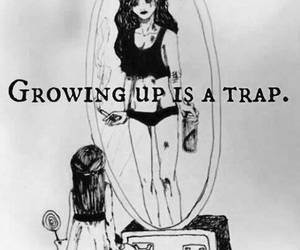 trap, growing up, and sad image