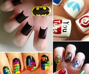 nails, batman, and nail art image