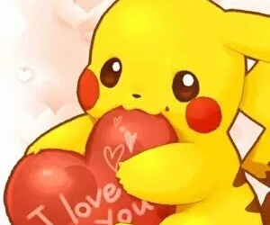 pikachu, pokemon, and I Love You image