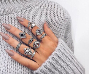 chic, nails, and rings image