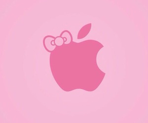 apple, pink, and bow image