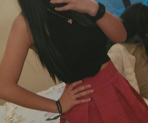 red, skirt, and nochebuena image