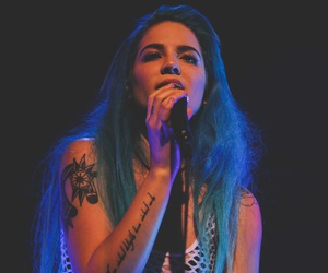 halsey, blue, and music image
