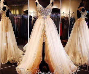 ball gown, beautiful dress, and dress image