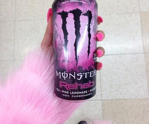 pink, monster, and drink image