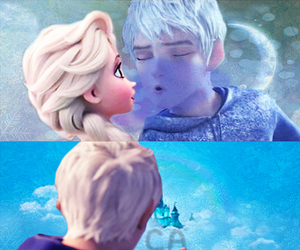 jack frost, elsa, and love image