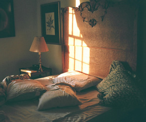 bed, cozy, and hipster image
