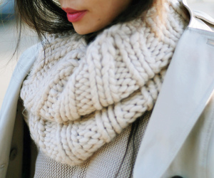 fashion, scarf, and white image