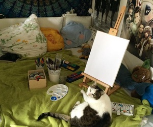 alternative, art, and cat image
