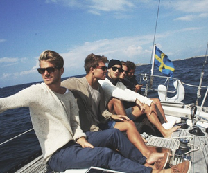 boy, sweden, and boat image