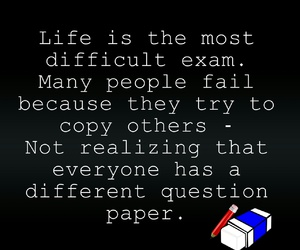 life, quotes, and exam image