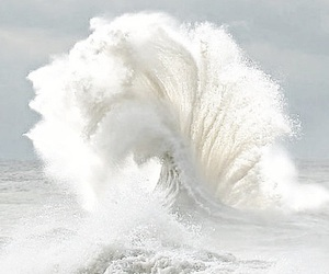 waves, white, and sea image