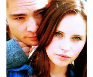 ed westwick, Felicity Jones, and chalet girl image