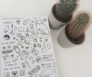 doodle, tumblr, and cactus image