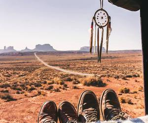 adventure, desert, and shoes image