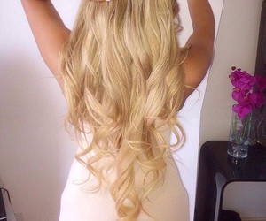 blond, curled, and curls image