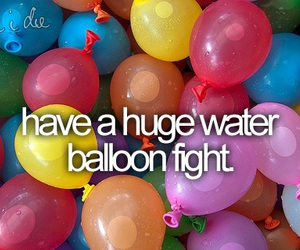 before i die, balloons, and water image