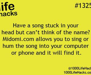 song and life hacks image