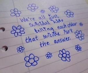 suicide, suicidal, and flowers image