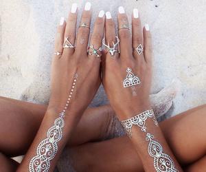 beach, henna, and nails image