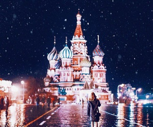 winter, moscow, and russia image