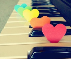 piano, music, and heart image