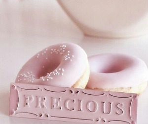 pink, sweet, and donuts image