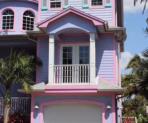 house, pink, and pretty image