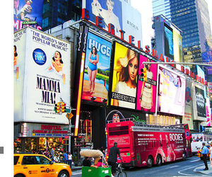big city, forever21, and times square image