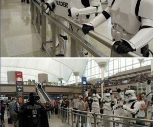 funny, star wars, and airport image