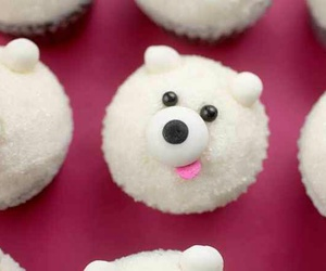 white and dogs cupcake image