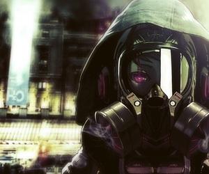 anime dark, anime mask, and mask gaz image
