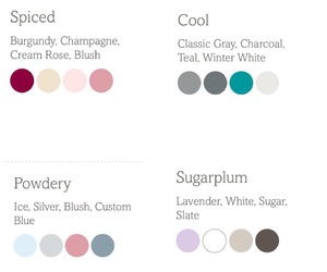 color scheme, wedding, and winter image