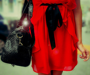 dress, red, and cute image