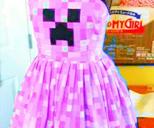 minecraft, creeper, and dress image