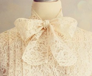 lace, bow, and fashion image