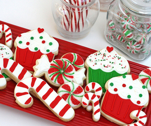 candy cane, food, and red image