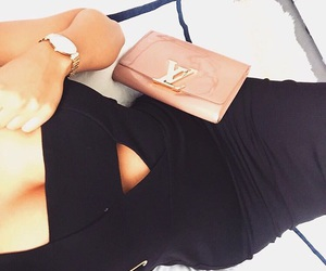 black, chanel, and Louis Vuitton image