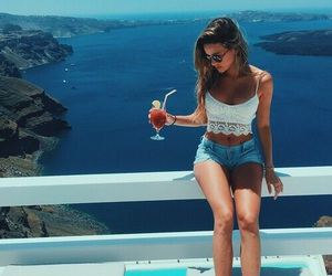 summer, girl, and style image