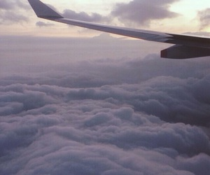 airplane, clouds, and tumblr image