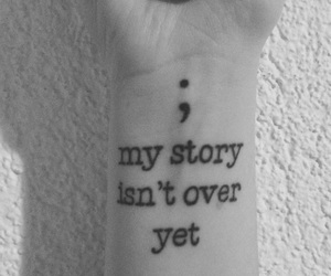 tattoo and semicolon image