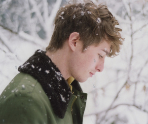 boy, snow, and winter image