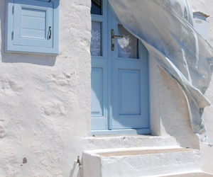 blue, door, and pastel image