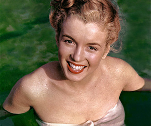 color, Marilyn Monroe, and young image