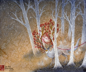 japan, magical, and spirit image