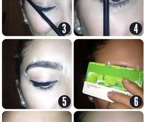 eyebrows, diy, and fashion image