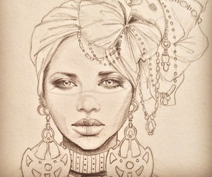 african queen and draw image