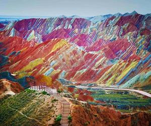 mountains, china, and nature image