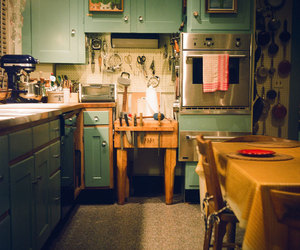 retro and julia child kitchen image