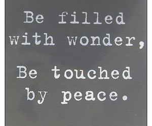 peace, quotes, and wonder image